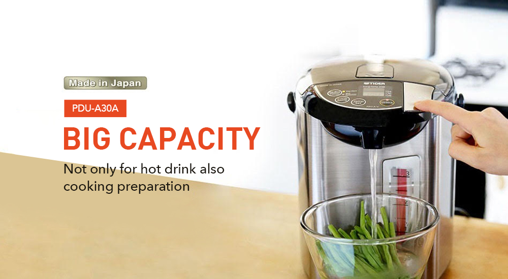 Big Capacity Not Only for Hot Drink also cooking preparation